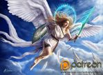 Angel of Light, (Fantasy Illustration) by AnthonyChristou