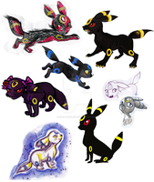 Umbreon Doodles by IceSprinkles