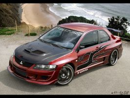 Lancer Evolution IX red by ollite20
