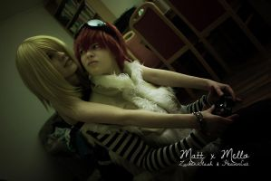 Death Note - Matt x Mello - Put your hands away! by HeavenCatTheRealOne