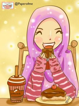eating ^_^ by fiyalayanfa2