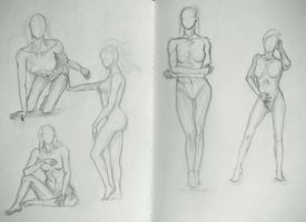 Sketchbook #11 Poses - Female by Kiara2909