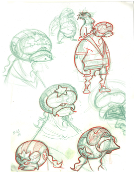 Helicopter Hero Sketches by boogiebac