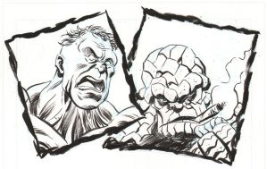 Hulk/Thing sketch by IanJMiller