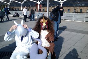 :MCM Oct 11: Mewtwo and Entei by TheLupineOne