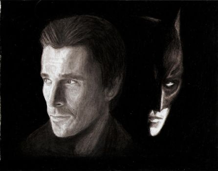 Christian Bale as Batman by THANITH-CS