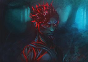 Sylvari the Nightborn by outstarwalker