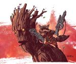 Rocket and Groot color warm up by DougGarbark