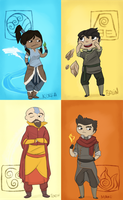 Legend of Korra Chibi Set by Zillar