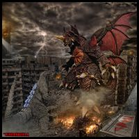 Godzilla Jr Vs Destroyah by Legrandzilla