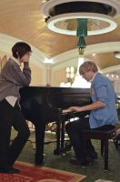 The piano is a problem, Haruhi. by traviscantcosplay