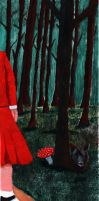 Red Riding Hood And The Bad Wolf by volker03