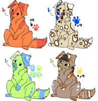 Food Dog Adoptables ..::OPEN 3/4::.. by love-the-adopts