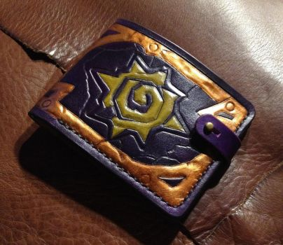 Highmaul Hearthstone Leather Bifold Wallet by Arnakhat