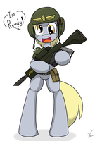 Imperial Guardspony Derpy by Sandwich-Anomaly