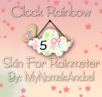 Skin For Rainmeter: Clock Rainbow by MyNameIsAnabel