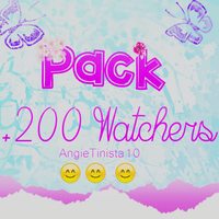 Pack De +200 Watchers  Festejamos by AngieTinista10