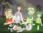 Human LBT Littlefoot and co laughing by Animedalek1