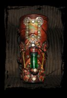 steampunk bracer by Lagueuse