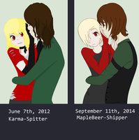 2012-2014 Anzhela and Vincent Comparison by MapleBeer-Shipper
