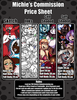 Michie Commission Price Sheet :2016: :OPEN: by TwistedDisaster