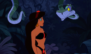 Slave Jasmine and Kaa: Are You Lost, Little One? by hypnotica2002