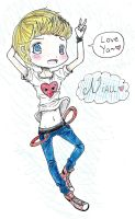 AT- Niall Horan Chibi~! by ani-chi-chan
