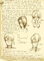 Burned snow characters by rinweb