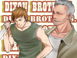 TWD- THE DIXON BROTHERS by zamzaam