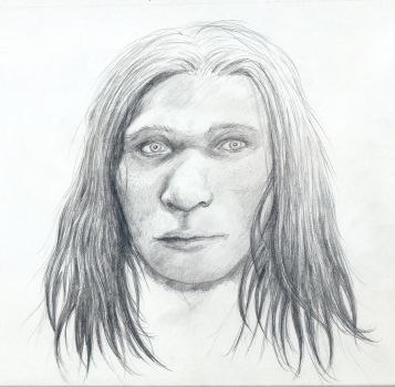 Neanderthal woman face by Mihin89