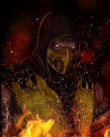 Scorpion-Mortal Komabat X by Grapiqkad