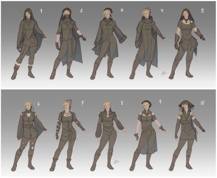 Adra's wardrobe designs by LiberLibelula