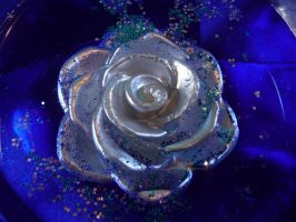 Silver Glitter Rose Stock II by Melyssah6-Stock