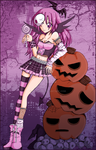 Violet Halloween by Sakukko