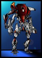 Red Robotech by oreckk
