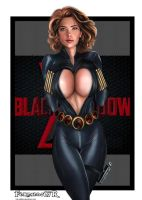 BLACK WIDOW  AVENGERS(viuva negra) by killbiro