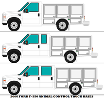 2006 Ford F-350 Animal Control Truck Bases by mcspyder1