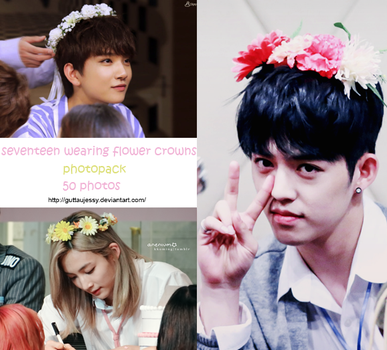 SEVENTEEN wearing flower crowns by guttaujessy