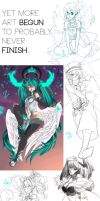 Yet more WIPs! by Galactic-Rush