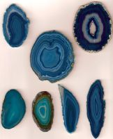 Blue Agate Stones from Brazil by Enchantedgal-Stock