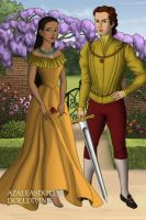 Tudor Disney Couples Pocahontas and John Rolfe by SerenDippityDooDah