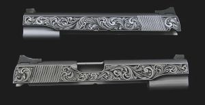 Hand engraved 1911 slide by Serrien1