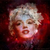 Red purple for Marilyn Monroe by cylevie
