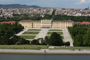 view to castle Schoenbrunn 5 by ingeline-art