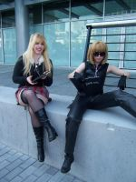 Misa Amane and Mello at AE by damselle-xo