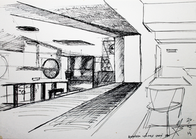 2Sketch 02 (Boavista Cafe's Game Room) by docthedog