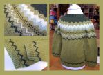 Sondre fair-isle sweater - green by KnitLizzy