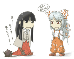 Kaguya and Mokou by odaleex