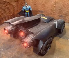 Custom Batmobile Repaint Engines at Idle by skphile