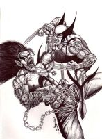 LOBO VS. WOLVERINE by necronocimon